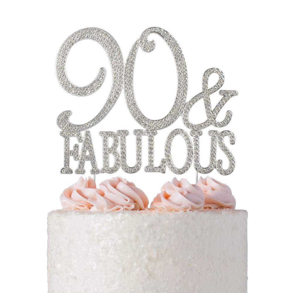 Gorgeous 90th Cake Topper