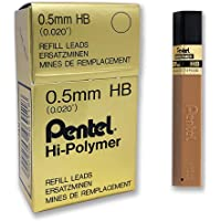 Pentel Australia 100C-HB Hi-Polymer 0.5 mm HB Lead Tubes 12, Box of 12