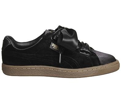 PUMA Mujer Negro / Gum Velvet Basket Heart Zapatillas: Amazon.es: Zapatos y complementos