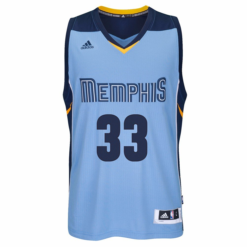 18efd03f0 ... france mike conley amazon marc gasol memphis grizzlies adidas nba swingman  jersey light blue sports outdoors