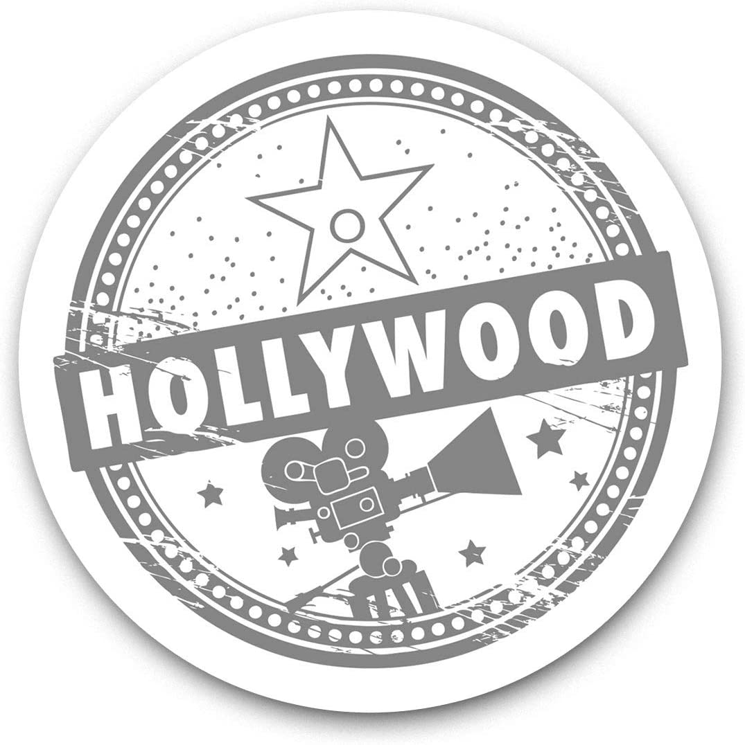 Awesome Vinyl Stickers (Set of 2) 7.5cm (bw) - Hollywood Stars Cinema Film Fun Decals for Laptops,Tablets,Luggage,Scrap Booking,Fridges,Cool Gift #35017