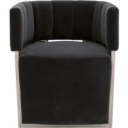 Terrific Amazon Com Star International Furniture Nova Velvet Accent Creativecarmelina Interior Chair Design Creativecarmelinacom