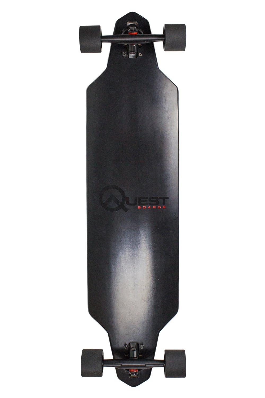 Quest Skateboards Zero Dark 40 Downhill Style Slot Through Longboard, Skateboard