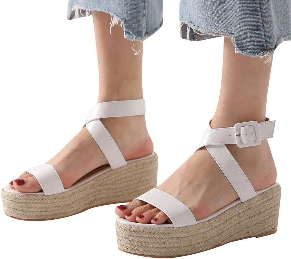 ZhixiaYS Women's Hemp Rope Sandals