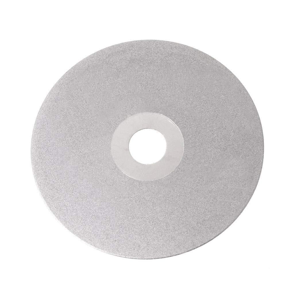 Yuxiale 4 100mm 80-2000# Diamond Coated Flat Lap Wheel Lapidary Polishing Grinding Disc