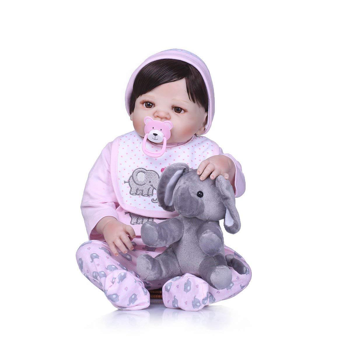 Fantasyworld Linda simulado del Cuerpo del bebé de Silicona Suave del paño Dressing Realista muñeca recién Nacido