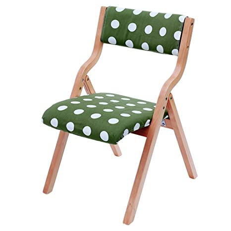 Amazon.com: LiUXUEPING Silla plegable de madera maciza silla ...