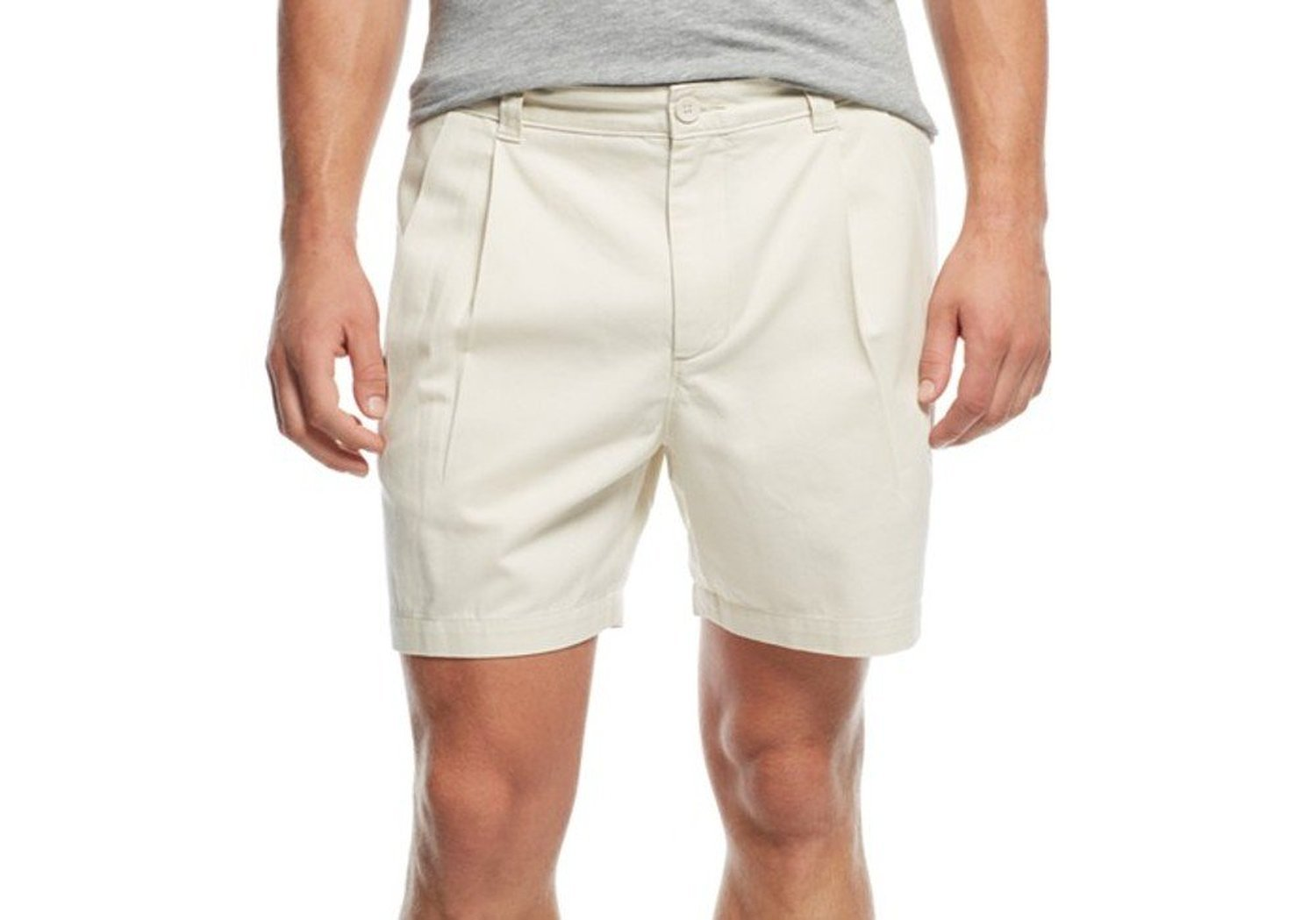 Club Room Mens Twill Double Pleat Casual Shorts Beige 34