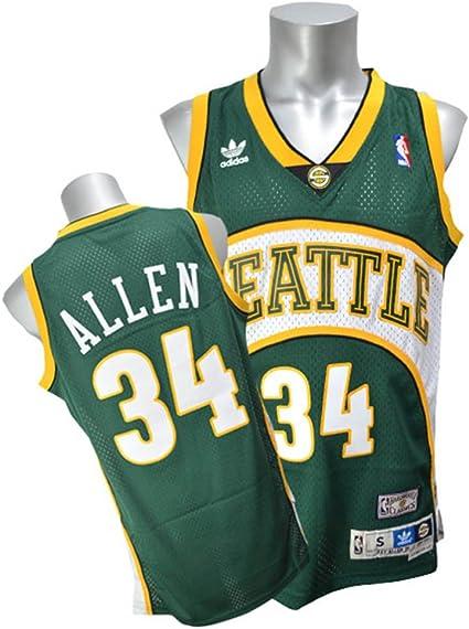 Ray Allen Seattle Supersonics Adidas NBA Throwback Swingman Jersey ...