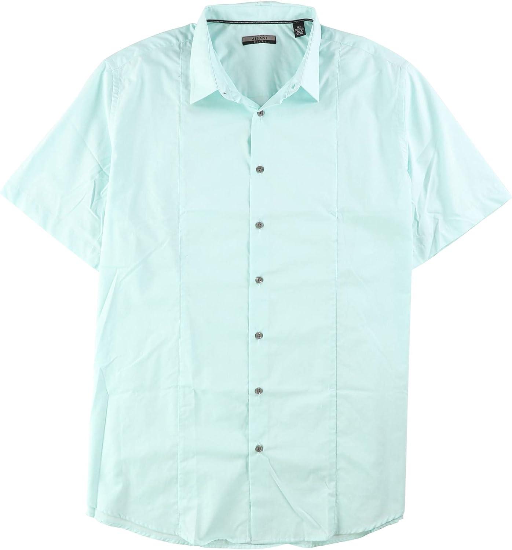 Alfani Mens Geo-Print SS Button Up Shirt