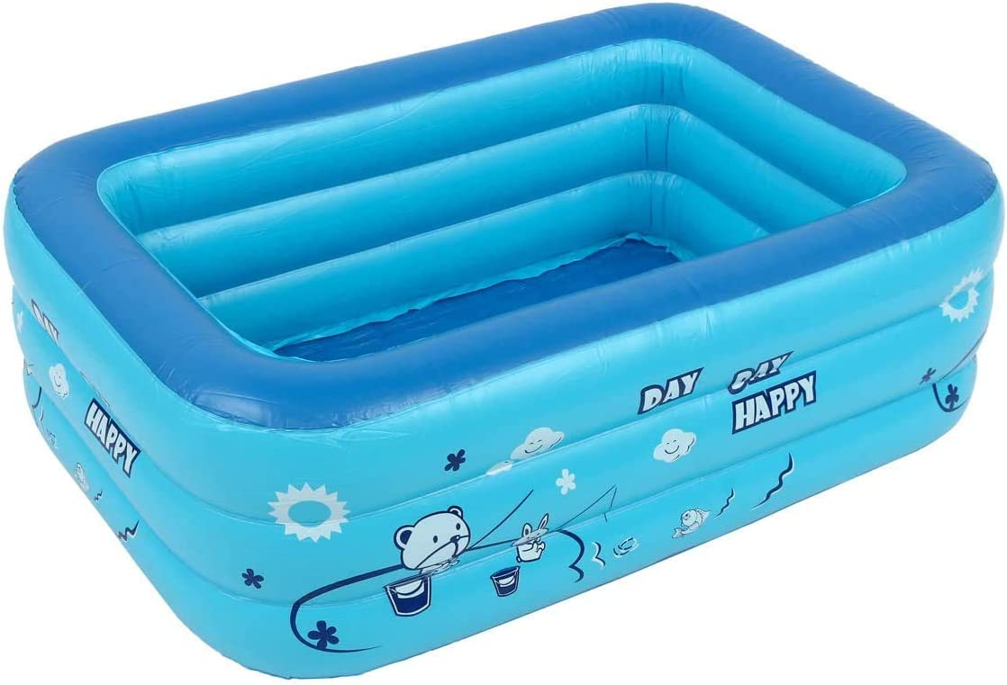 Piscina infantil familiar hinchable y plegable dDanke para jardín. Piscina rectangular hinchable para niños y adultos de color aleatorio: Amazon.es: Jardín