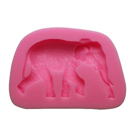 WA silicona elefante forma molde Sugarcraft Fondant Cake Molde Decoración Hornear Herramientas (color