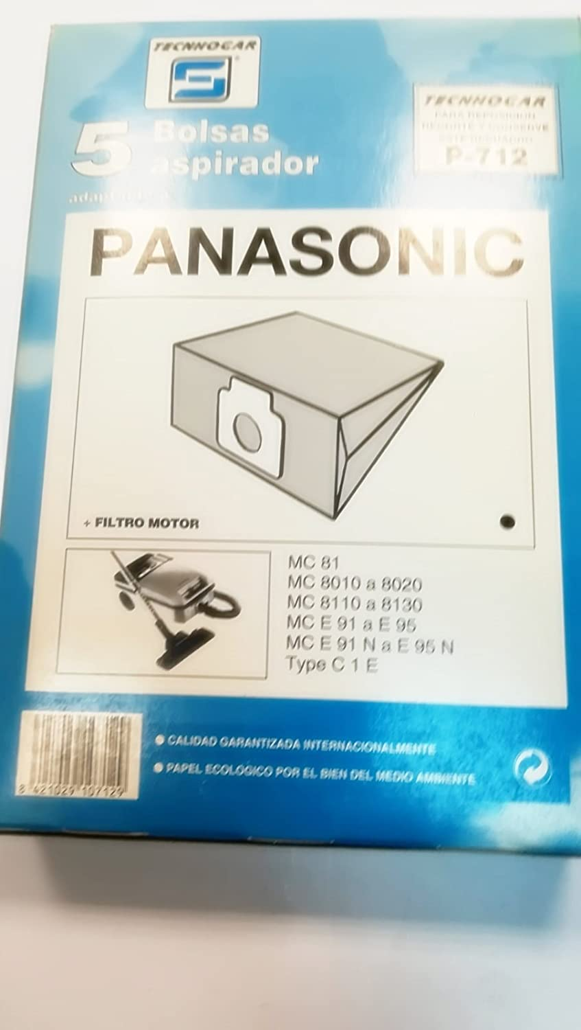 Taurus Bolsas Aspirador COMPATIBLES PANASONIC MC81: Amazon ...