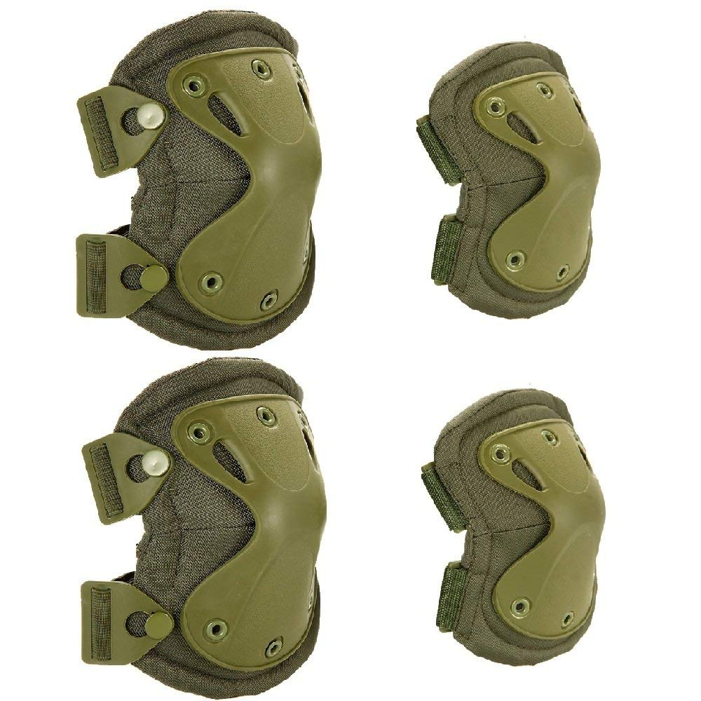 lixada military tactical knee elbowパッドセット4pcs airsoft