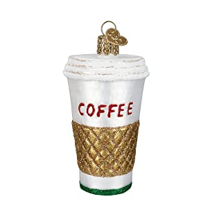 Old World Christmas Cup Coffee and Tea Gifts Glass Blown Ornaments for Christmas Tree