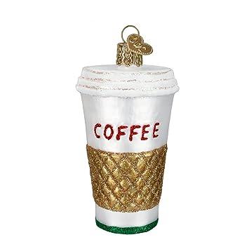 Coffee Christmas Ornaments.Old World Christmas Ornaments Coffee To Go Glass Blown Ornaments For Christmas Tree 32171