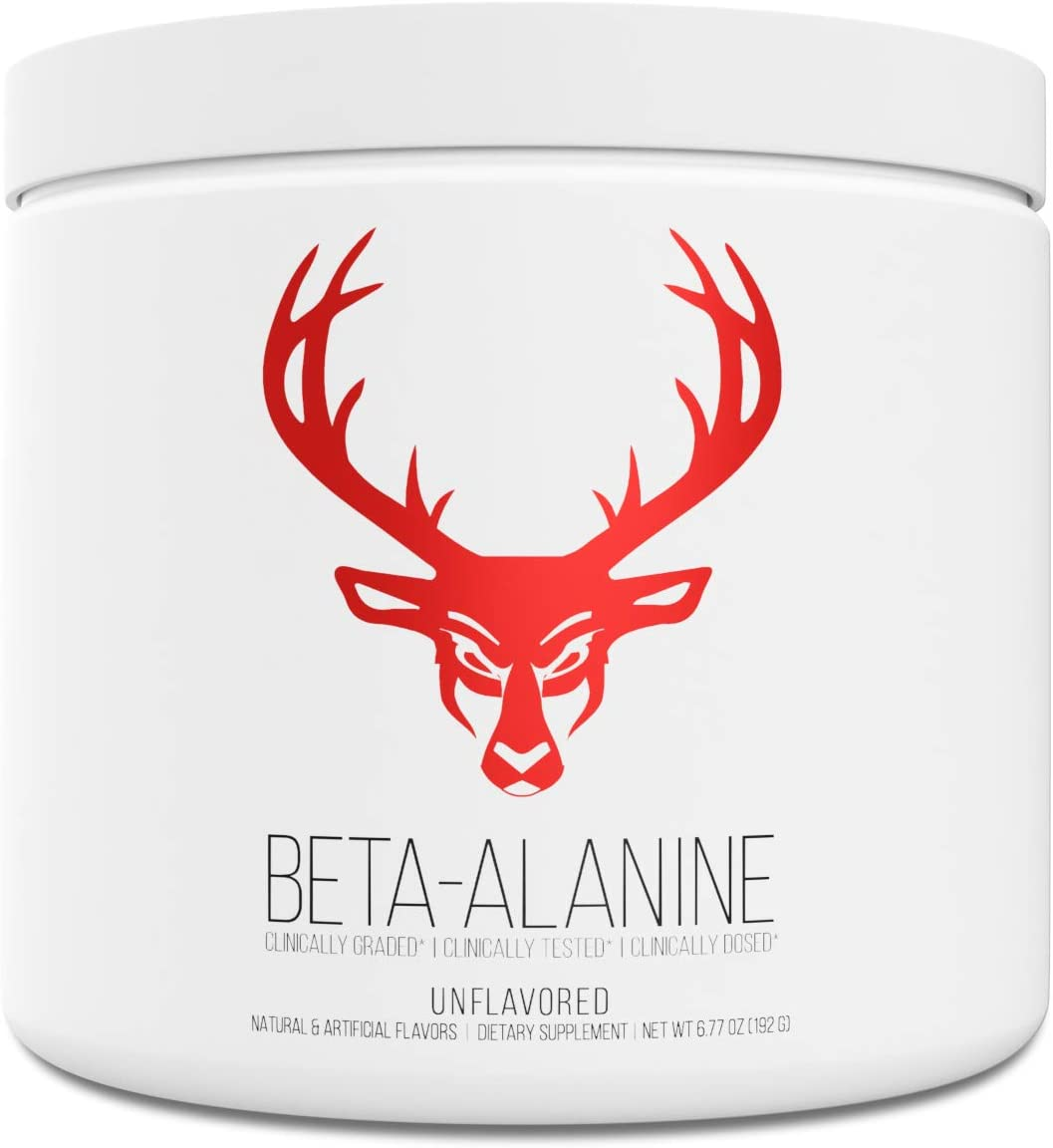 Bucked Up Beta Alanine 3.2g Powder Pure Beta Alanine, Gluten Free Non-GMO – Clinically Dosed and Tested – Boost Strength, Endurance, Muscle Mass, and Workout Capacity 60 Servings