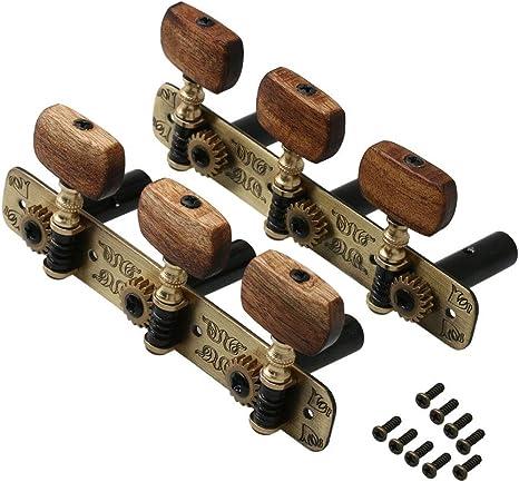 Yibuy 1 par de clavijas de afinación para guitarra clásica de ...