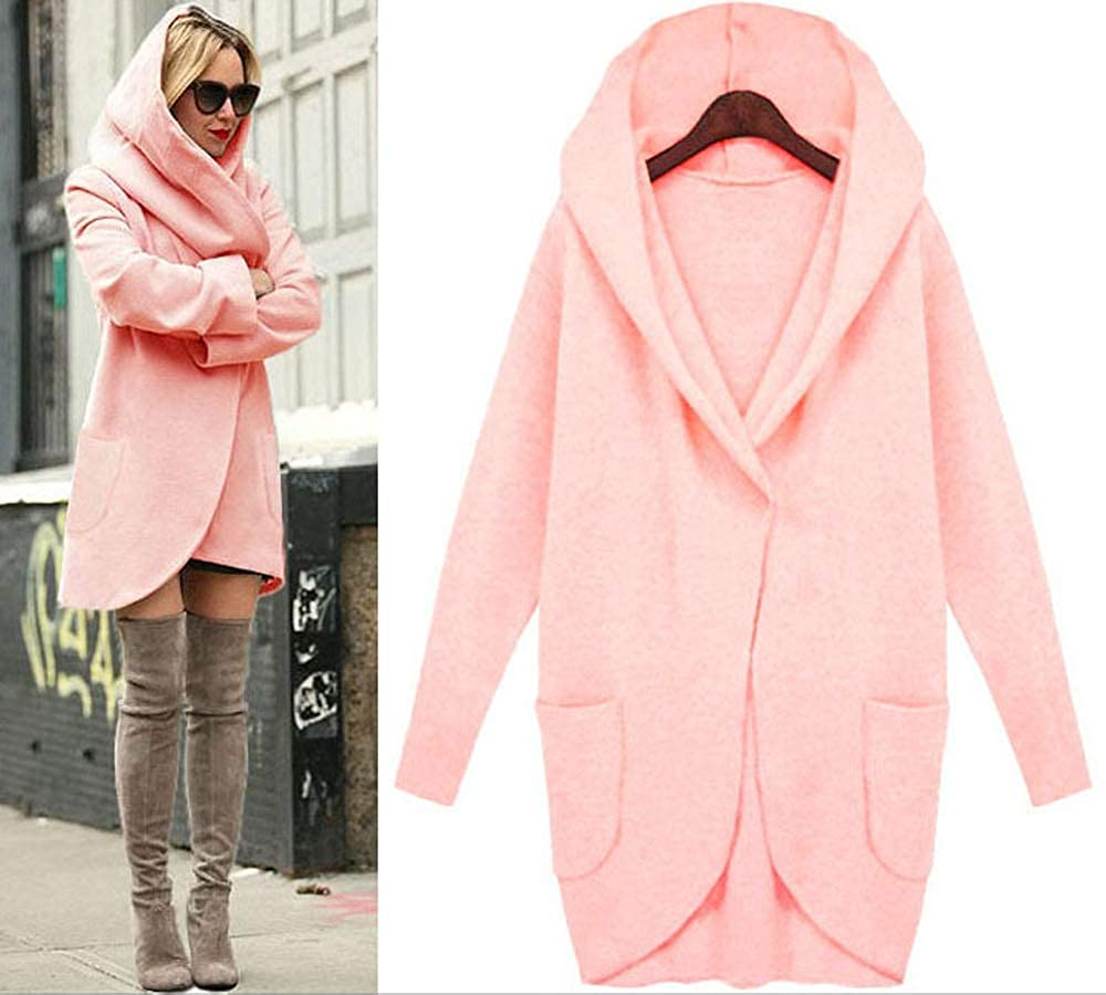 FOURSTEEDS Womens Soft Fabric Oversized Open Front Hoodie Pancho Cardigan Sweater CHWACJ0001