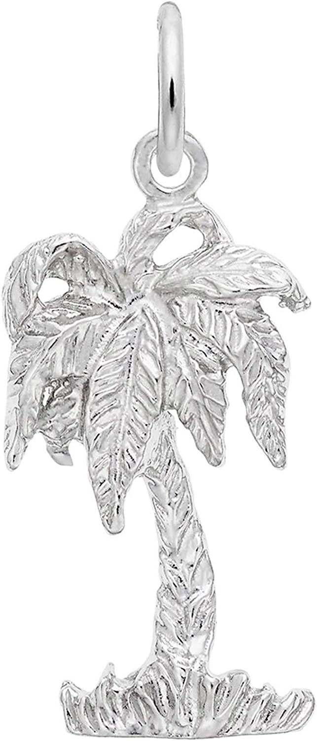Sterling Silver 3D Mini Open Palm Hand Charm