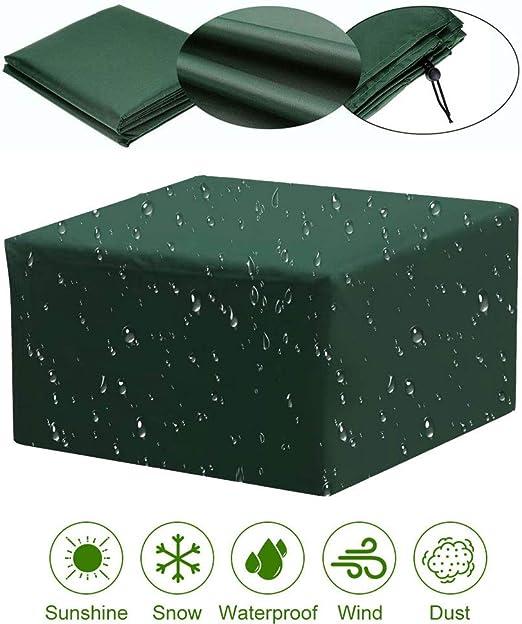 Q&Z Funda Protectora para Muebles De JardíN, Resistente Al Polvo Fundas Protectoras para Mesa Impermeable Cubierta De Exterior Rectangular para Mesas Muebles RatáN Y Sillas De Patio: Amazon.es: Jardín