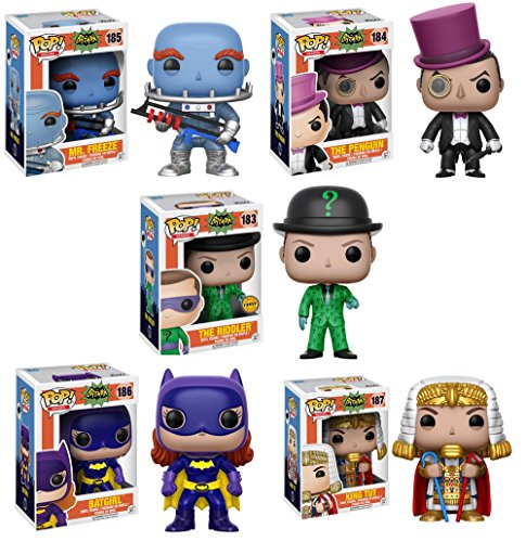 Pop! Heroes: Batman Classic TV CHASE Set: The
