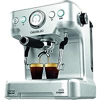 Cecotec Cafetera Express Power Espresso 20 Barista Pro. Thermoblock para Café y Espumar Leche, 20 Bares, Manómetro…
