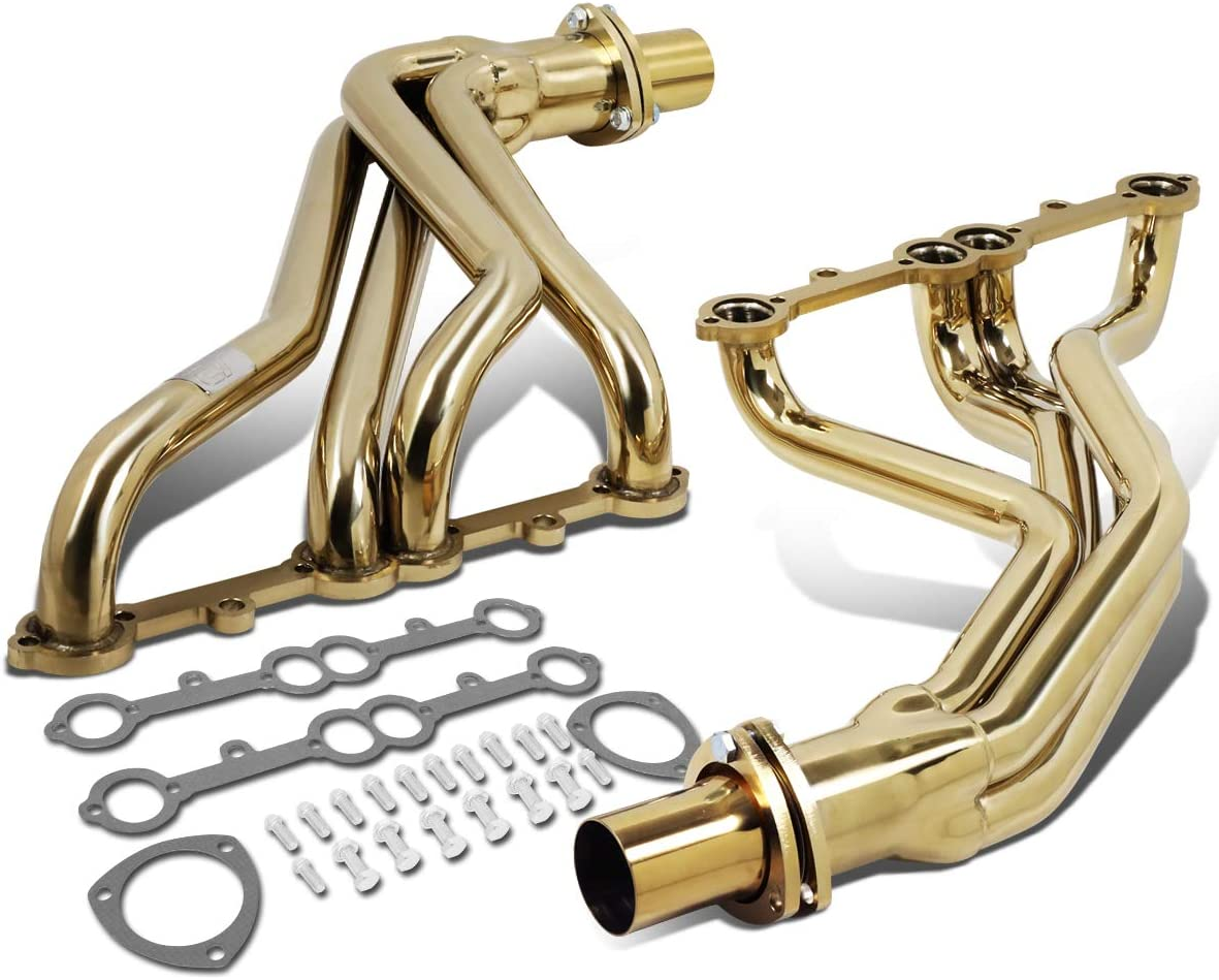 DNA Motoring J2 J2-HD-GOLD-002 SBC Small Block Chevy Engines Long Tube Exhaust Header Manifold