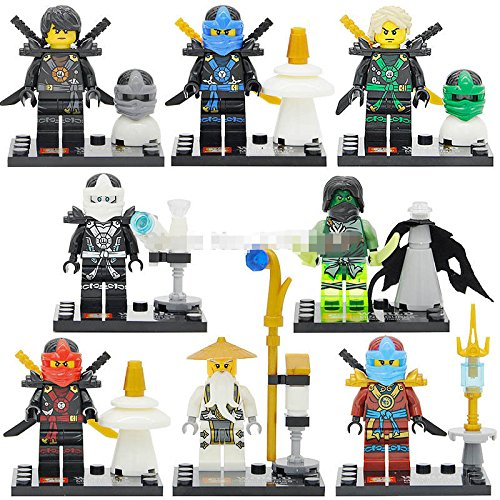 gonggamtop 8pcs Phantom Ninjago JAY KAI ZANE TMNT DIY Model Minifigures kids Gifts Toys