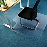 Office Premium Chair Mat Carpet Protection Mat,Studded,Clear,Rectangular Shaped (47 x 47 inches, Rectangular with Lip)