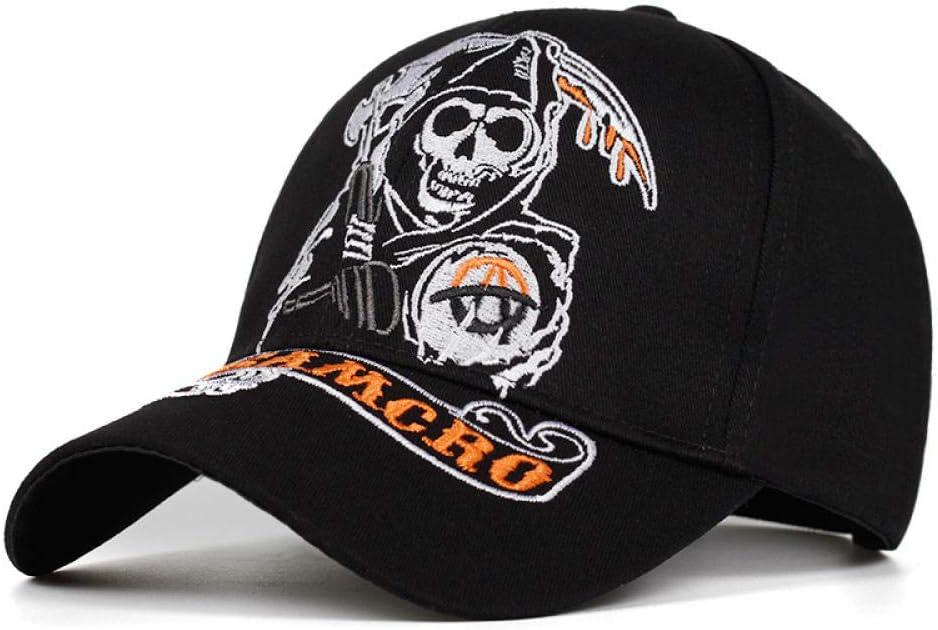 Twekrt Berretti in maglia da Cappello da baseball teschio ricamo casual cappello moda Racing Sport hat-black/_2