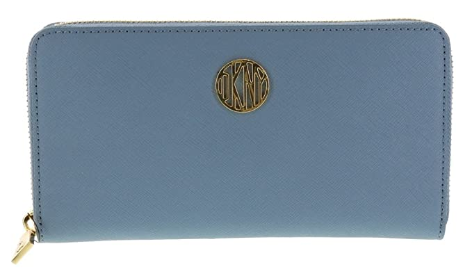 7dd4f26154b DKNY SLGS Bryant Park Saffiano Leather Wallet (764521503) in Light Blue  (451)  Amazon.co.uk  Clothing