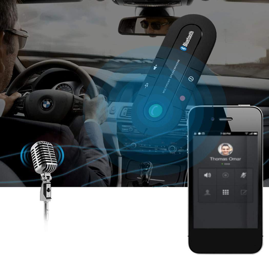 nalinged MP3 Lettore Musicale Sun Visor Ricevitore Audio Kit Vivavoce per Auto Bluetooth Senza Fili Trasmettitori FM