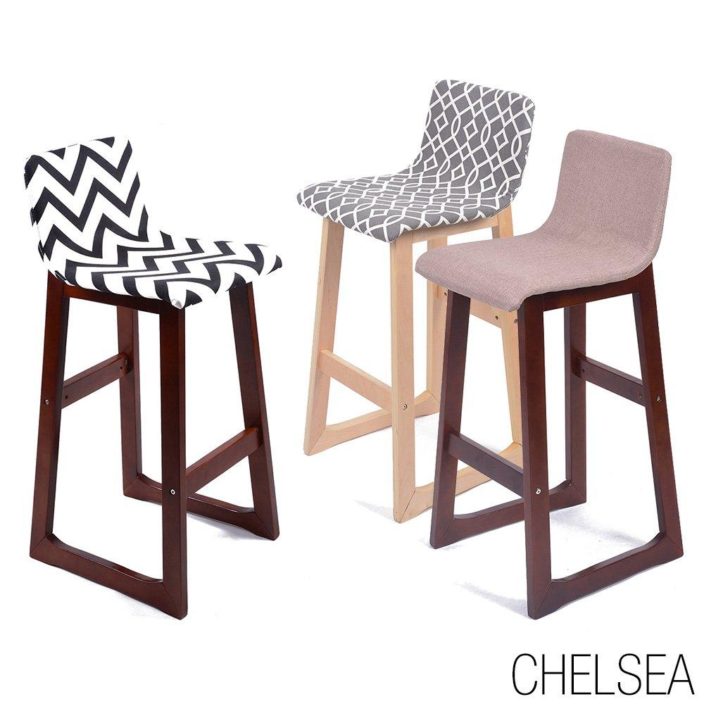 Strange Amazon Com Chelsea Contemporaneo Madera Tejido Barstool Andrewgaddart Wooden Chair Designs For Living Room Andrewgaddartcom