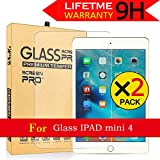 iPad Mini 4 Glass Screen Protector,AnoKe[Case Friendly] 2.5D Round Edge,Bubble Free,Anti-Scratch, Clear Tempered Protector Film Shield Guard For Apple iPad Mini 4 (7.9 inch) - 2 Pack
