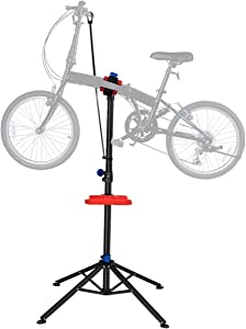"S AFSTAR Pro Mechanic Bike Repair Stand Adjustable 41"" to 75"" Cycle Rack Bicycle Workstand Tool Tray"
