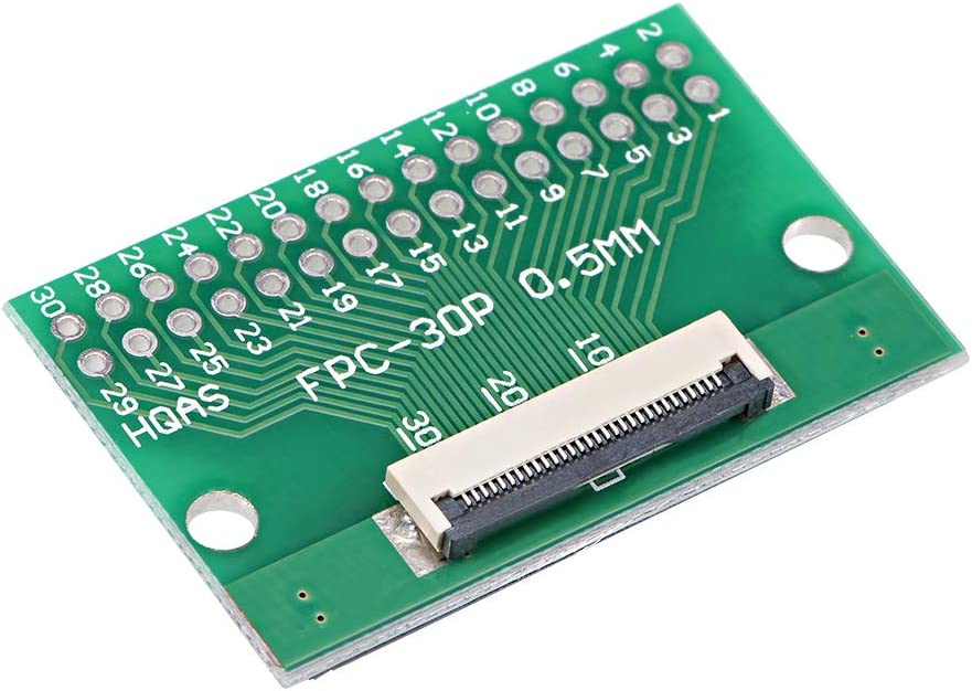 uxcell FFC FPC 50 Pin 0.5mm Pitch to DIP 2.0mm PCB Converter Board Couple Extend Adapter