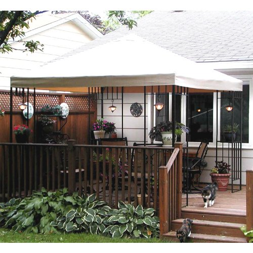 Garden Winds Summer Living Florence Gazebo Replacement Canopy Top Cover - RipLock - Gazebo Living Summer