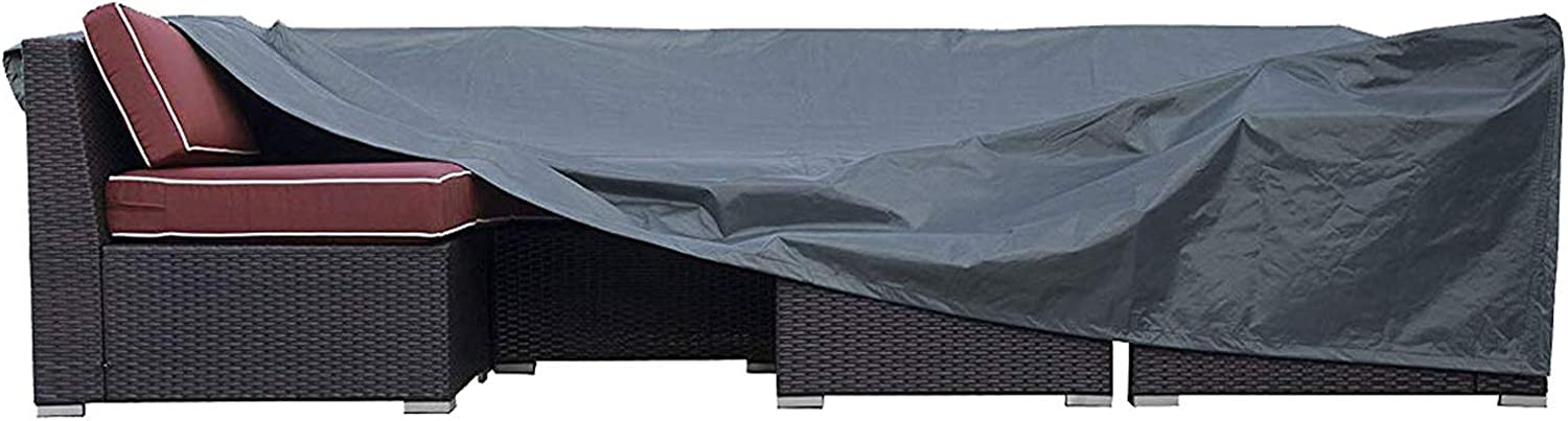 JCGARDEN Extra Large Outdoor Furniture Cover Waterproof Dust Proof Durable Patio Sectional Couch Cover Protective Loveseat Cover 98x98x28 Inch…