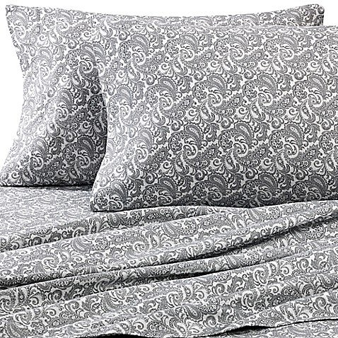 Luxury Portuguese Flannel King Pillowcases in Paisley (Set of 2) ()