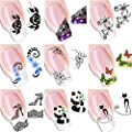 6 Pack Nail Art Sticker Water Decals Foil Adhesive UV Gel Polish Nail Stickers Set Tips Manicure Decoration DIY Accessories