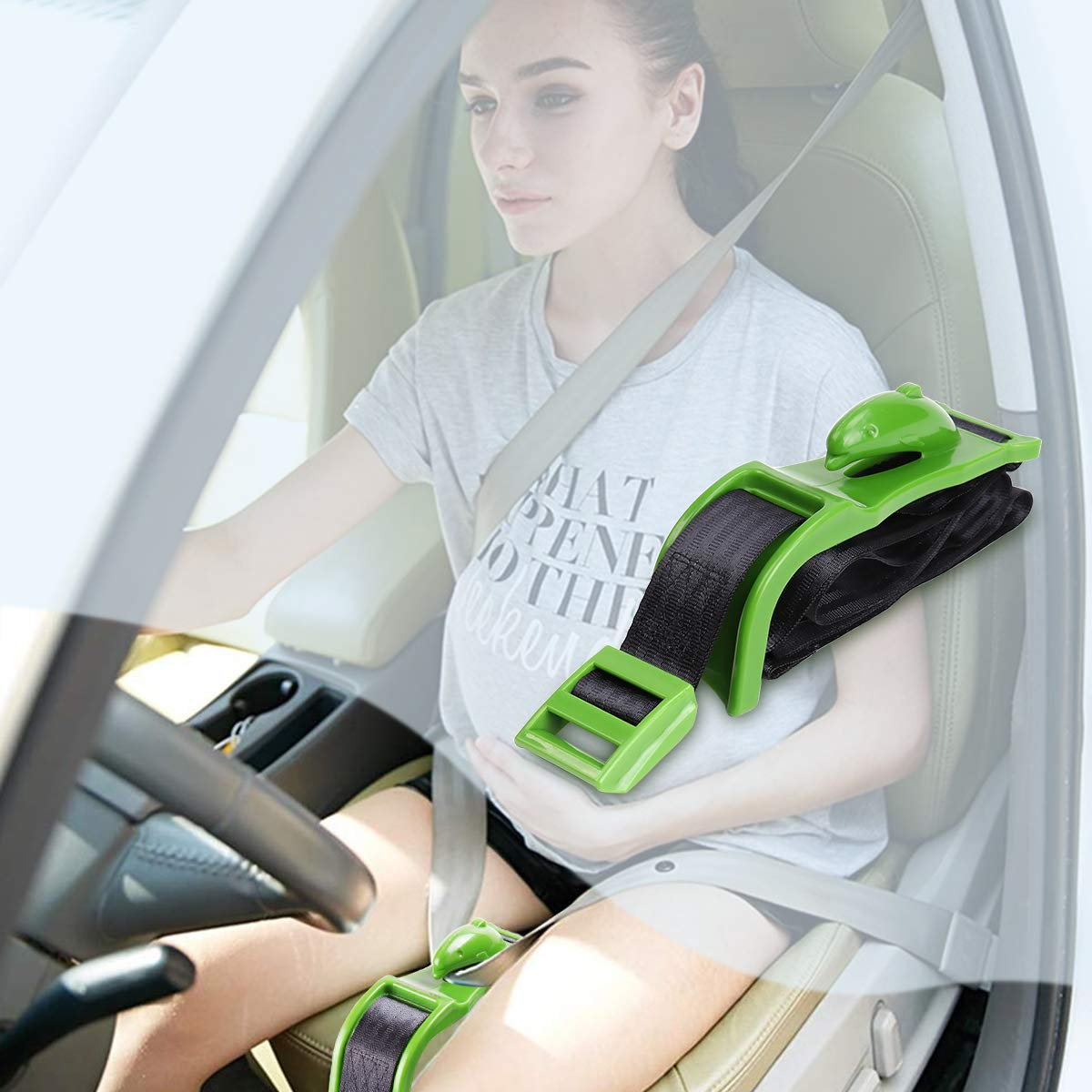 wjieyou Pregnancy Seat Belt Adjuster Baby Bump Belt Maternity Car Seat Belt Adjuster Dolphin Hook Comfort Safety for Pregnant Driving Mom,Protect Unborn Baby