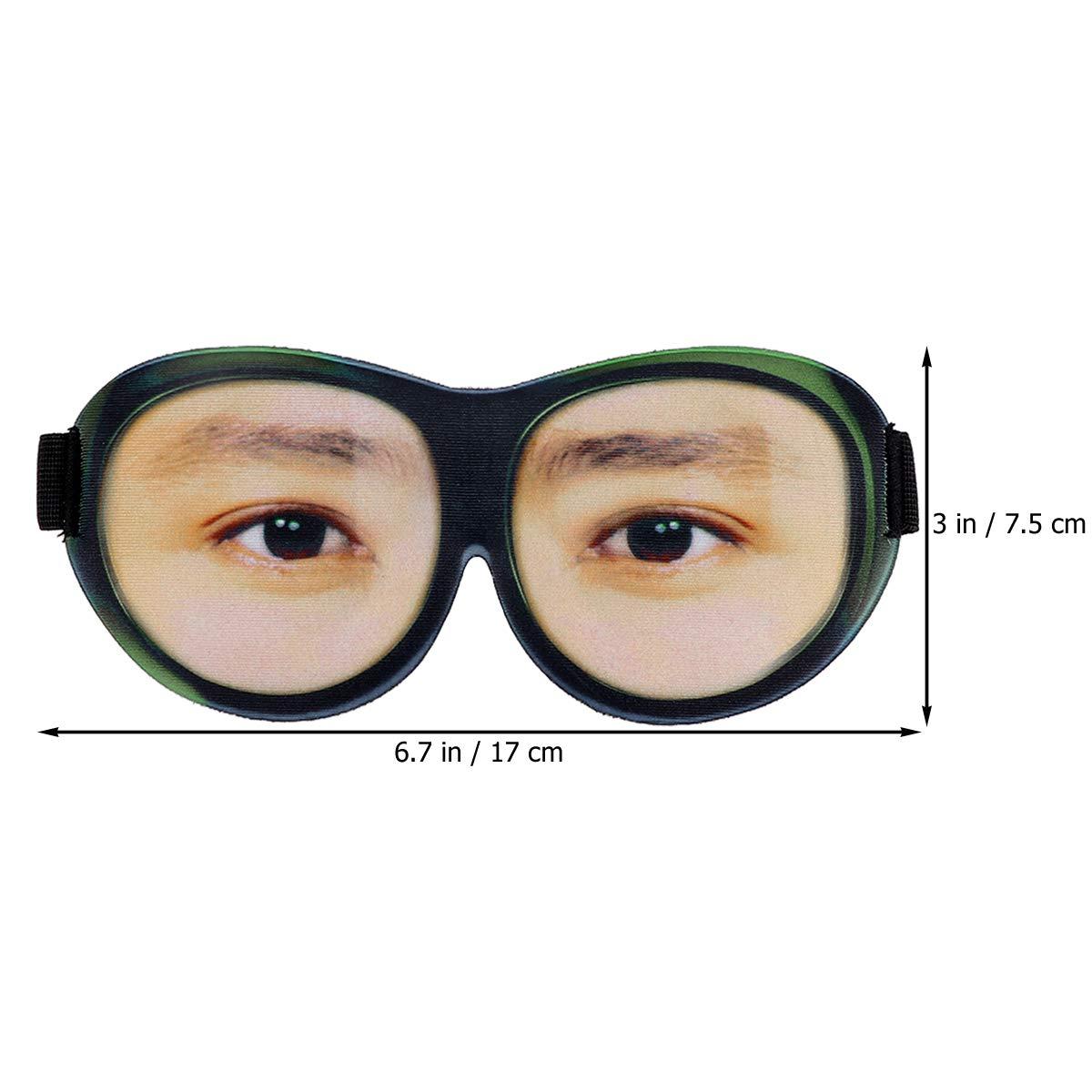 Beaupretty Lunettes de masque de sommeil 3D avec bandouli/ère r/églable Eye Eyeshade Sleeping Eyeshade Light Blocking Masque pour Voyage /à la maison Voyage en plein air