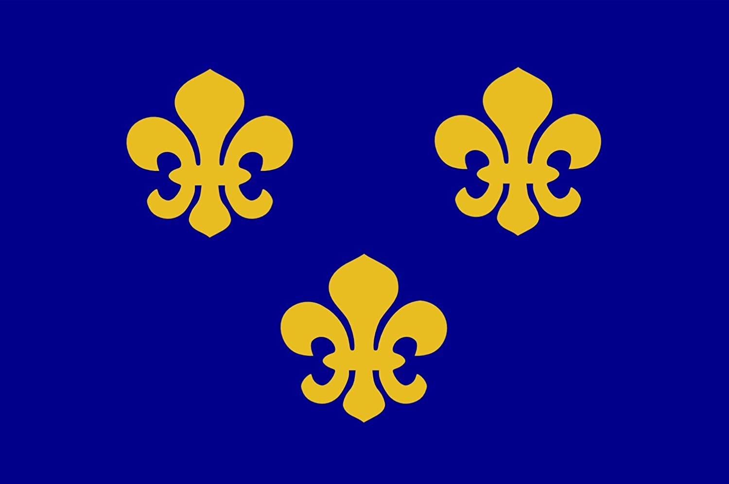 Present Day s /Île-de-France In 1328 The Coat-of-arms of The House of Valois was Blue with Gold Fleurs-de-lis Bordered in red 20x30c DIPLOMAT Flagge Medieval France Querformat Fahne 0.06m/²