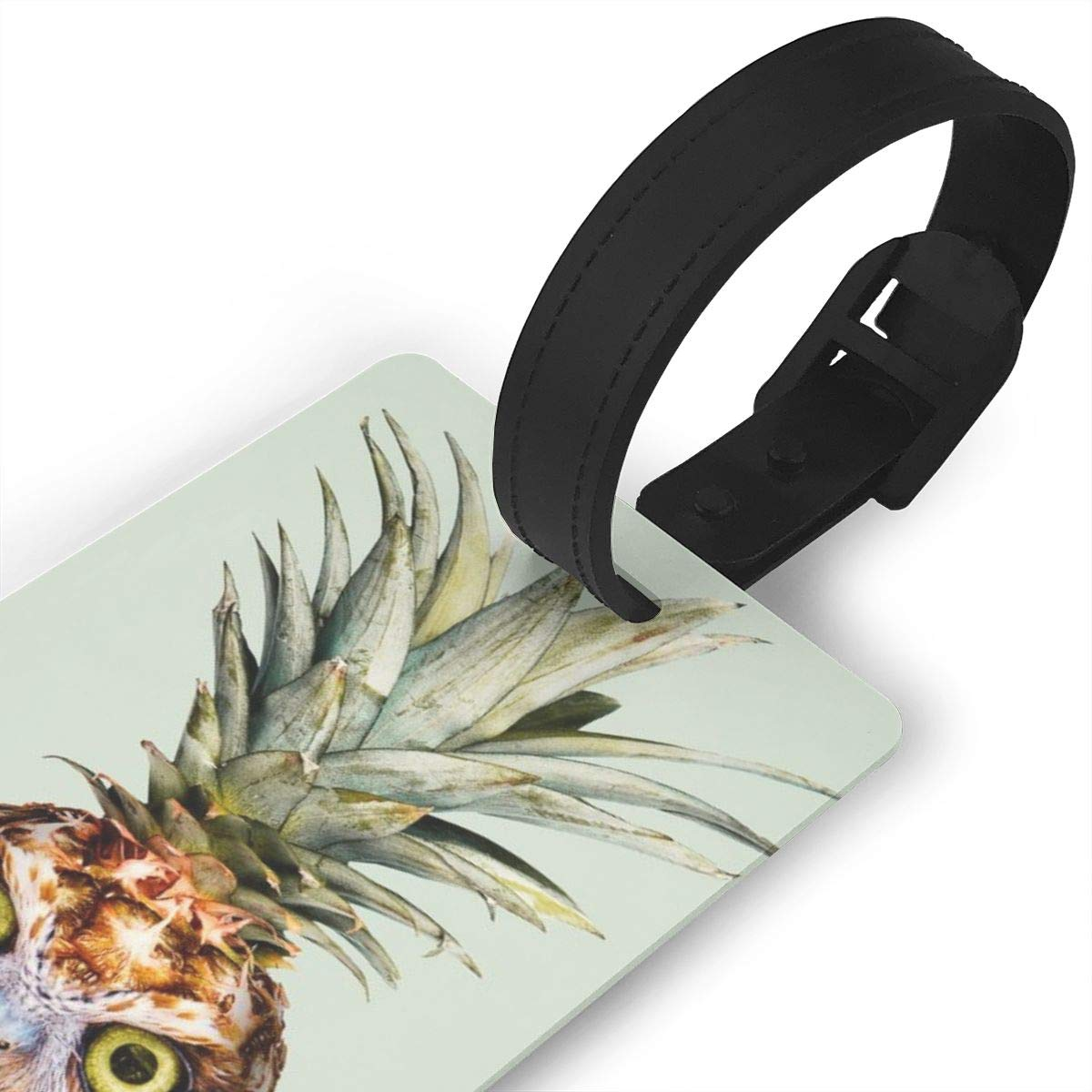 Pineapple owl Luggage Tags Suitcase Labels Bag Travel Accessories Set of 2