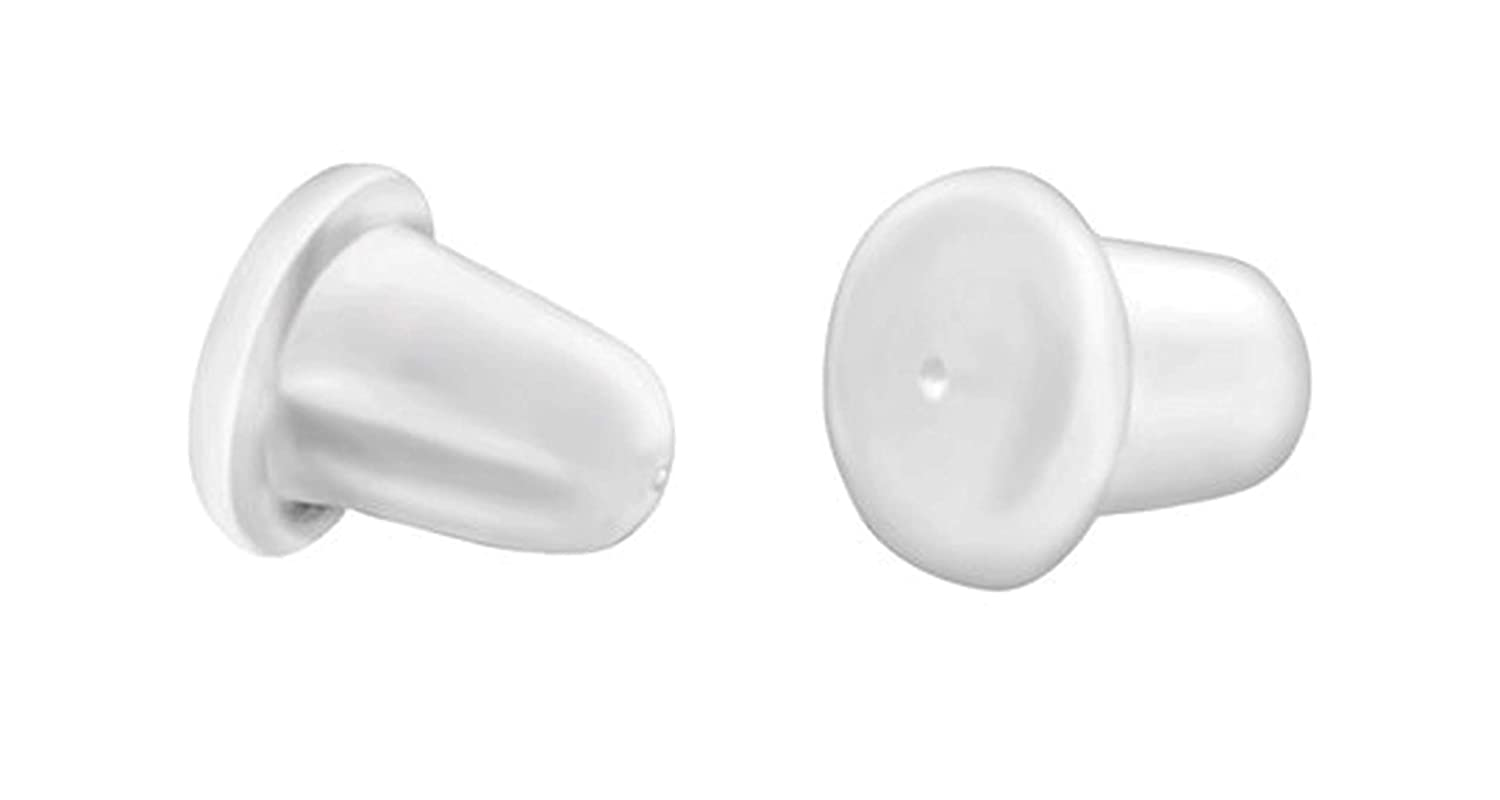 Best Wing Jewelry'Silicone Rubber Bullet Safety Back Post' for Ear Stud and Fish Hook Earrings (100 Pairs/Pack)