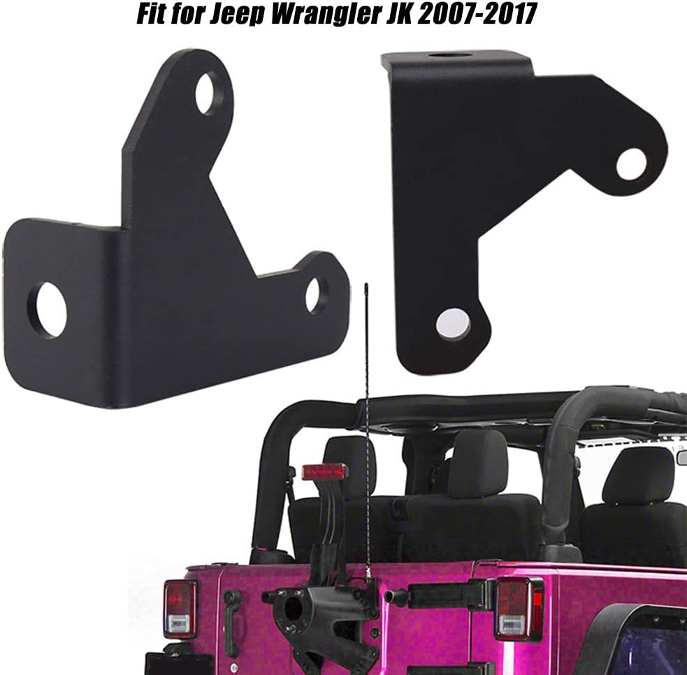 Festnight Car Spare Tire CB Antenna Mount Radio Antenna Mounting Bracket Replacement for Jeep Wrangler JK 2007-2017