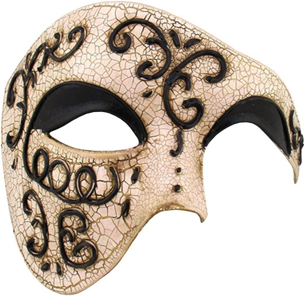 Mens Masquerade Mask Mens Phantom Mask Mens Half Face Phantom Of the Opera Venetian Masquerade Mask For Men Halloween Masks