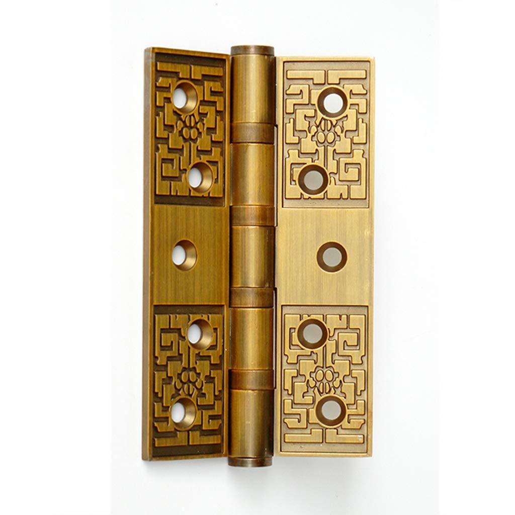 LEZDPP Hinge Antique European 5 Inch Thick 4mm Silent Bearing Door Hinge 1 Price (Color : A, Size : 6pcs) by LEZDPP
