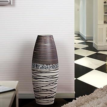 Amazon.de: wysm Keramikboden Große Vase Einfache moderne Wohnzimmer ...